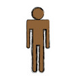standing man pictogram people avatar vector image