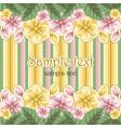 striped floral background vector image vector image