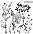summer flower vector image vector image