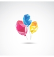 Triangle color balloons vector image vector image