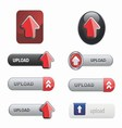 Upload Button Set vector image