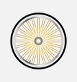 wheel of bicycle with bicycle sprocket in a flat vector image vector image