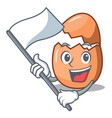 with flag broken egg isolated on the mascot vector image