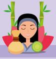 woman spa wellness vector image vector image