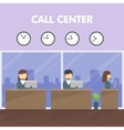 Workers call center vector image
