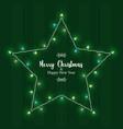 year xmas lights star frame card vector image