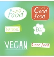Labels food designs vector image