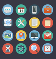 Flat Icons for Web and Applications Set 1 vector image