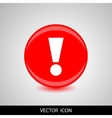 A red icon with an exclamation point vector image vector image