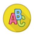 ABC blocks flat icon vector image