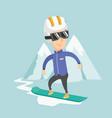 adult man snowboarding