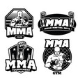 badge design of mma vector image vector image