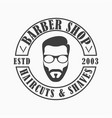 barber shop template logo vector image