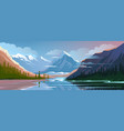 beautiful nature natural landscape evening vector image vector image