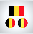 belgian trio flags vector image vector image