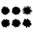 black and white isolated set six shapes of vector image