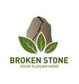 broken stone logo design vector image vector image