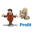 Cartoon businessman and financial expert vector image vector image