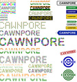 Cawnpore text design set vector image vector image