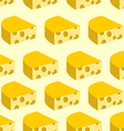 Cheese with holes seamless pattern Background of vector image vector image