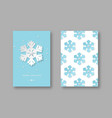 christmas holiday posters with paper cut style vector image vector image
