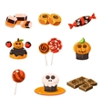 Colorful Traditional Halloween Sweets vector image vector image