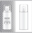 cosmetic spray bottle dispenser for cream balsam vector image vector image