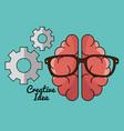 creative brain idea concept vector image