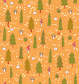 Cute seamless pattern with forest trees vector image vector image