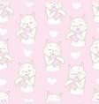 cutie cat seamless pattern vector image