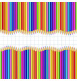 double border made of multicolored pencils on vector image