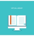 E-book Flat backgrounds set vector image vector image