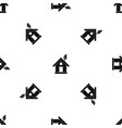 eco house concept pattern seamless black vector image vector image