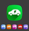 electric car icon flat web sign symbol logo label vector image vector image
