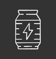 energy drink chalk icon video game extra life vector image vector image