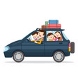family traveling together on vacations vector image vector image