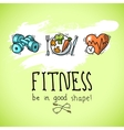 Fitness sketch poster vector image vector image