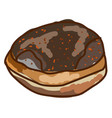 fresh donut on white background vector image vector image