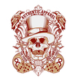 gambling Skull with top hat vector image