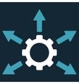 Gear Distribution Icon vector image