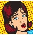 Girl scream pop art style vector image vector image