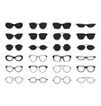 glasses collection geek eyeglasses and sunglasses vector image
