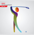 golf color sport icon design template vector image
