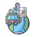 gps and travel vector image