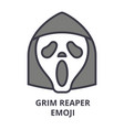 grim reaper emoji line icon sign vector image