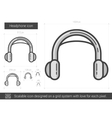 Headphone line icon vector image vector image