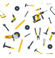 house repair tool seamless pattern logo woodwork vector image