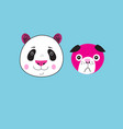 icons panda and dog vector image