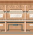 industrial factory empty warehouse space interior vector image