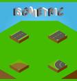 isometric way set of driveway sand way vector image vector image